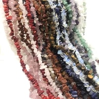 natural stone beads chips beads 5 8mm crystal strand 16 inch lrregular gravel beads diy bracelet for jewelry making