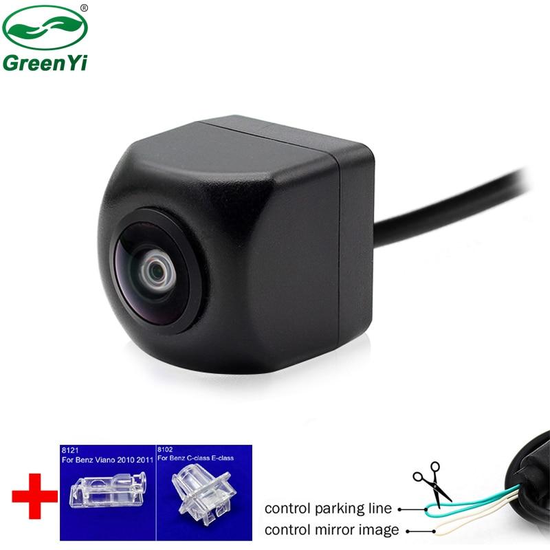 Lente de ojo de pez, especial para soporte de montaje placa de matrícula, cámara de Vista trasera de coche para Benz A B C E S GLK GLC ML CLS Class