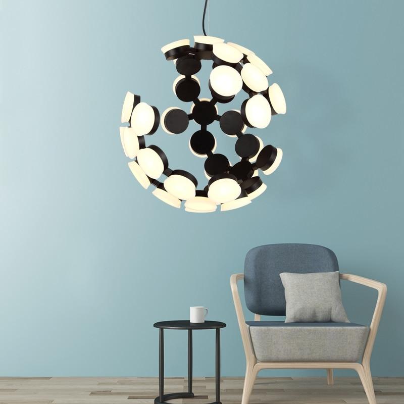 GZMJ, lámpara colgante LED, poste nórdico, luz de salón moderna, Arte con personalidad creativa, diseño de estilo de casa para sala de estar, dormitorio, Bar