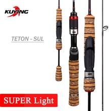 "KUYING Teton 1.56m 5'2"" Casting 1.86m 6'2"" Spinning SUL Super Ultralight Soft Carbon Fishing Rod Lure Cane Pole Stick Medium"