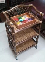 the cane makes up by hand trolley household cart beauty salon cart beauty tool