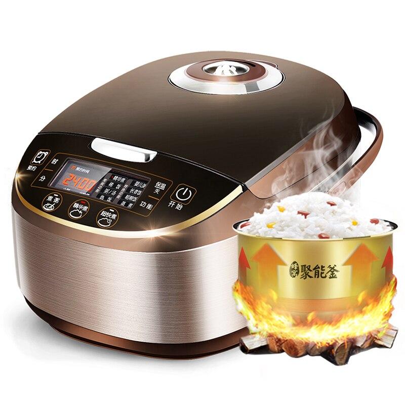 DMWD 5L Smart Elektrische Reiskocher Lebensmittel Dampfer Multi Herd Wärme Erhaltung Termin: 0-24 stunden Top Qualität 220V