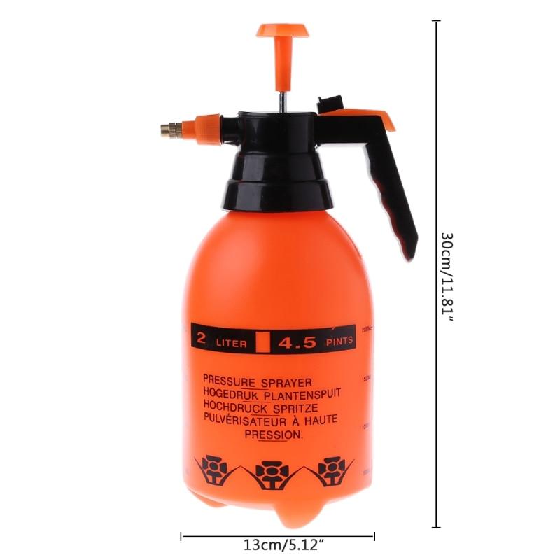Bote de pulverizador a presión para lavado de coches de 2.0L, bomba de limpieza automática, pulverizador, botella presurizada, botella pulverizadora de alta resistencia a la corrosión