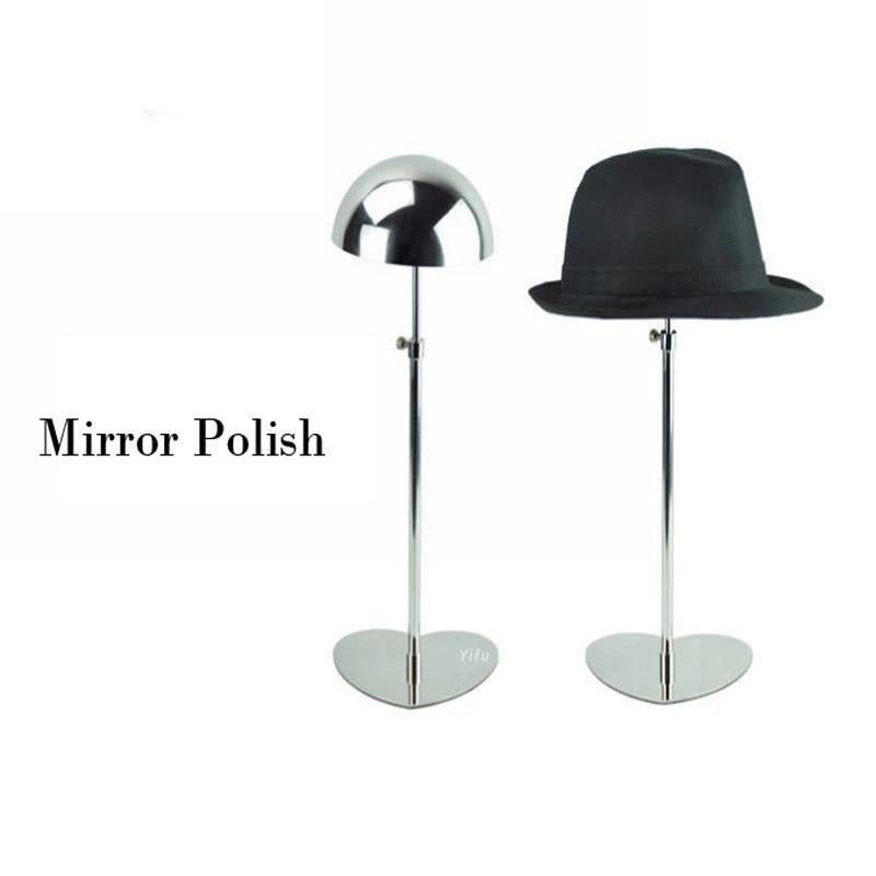 شحن مجاني معدن قبعة عرض مرآة لها حامل البولندية رف لعرض القبعات قبعة حامل سقف HH002-Mirror البولندية