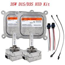 Snelle Heldere D1S HID Kit Metalen 35 w 4300 k D1S D3S HID Lamp 6000 k C-adillac Escalade voor-d Edge Mustang 35 w HID Ballast D1S HID Kit