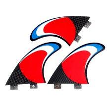 3 Pcs FCS M/G5 Sup Board Surfbrett Fiberglas Waben Kohlenstoff Flossen Tri-set Surfen Fin S- förmigen Schwanz Ruder Surf Zubehör
