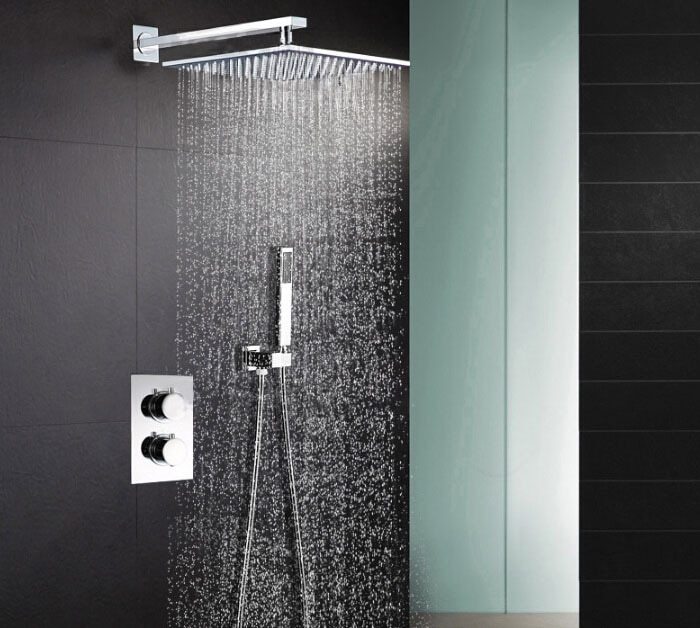 Thermostatic Shower Mixer Valve Set Thermostat Mixing Valve Handheld Bathroom Product Bath Shower Set Shower Systems