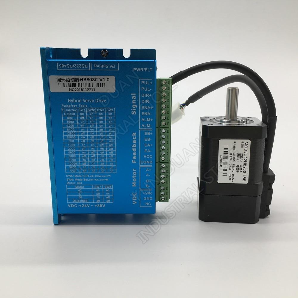 Nema17 42mm 0.5nm 50ncm 75oz-in circuito fechado motor deslizante driver hybird codificador fácil servo 2 fase kits de motor deslizante