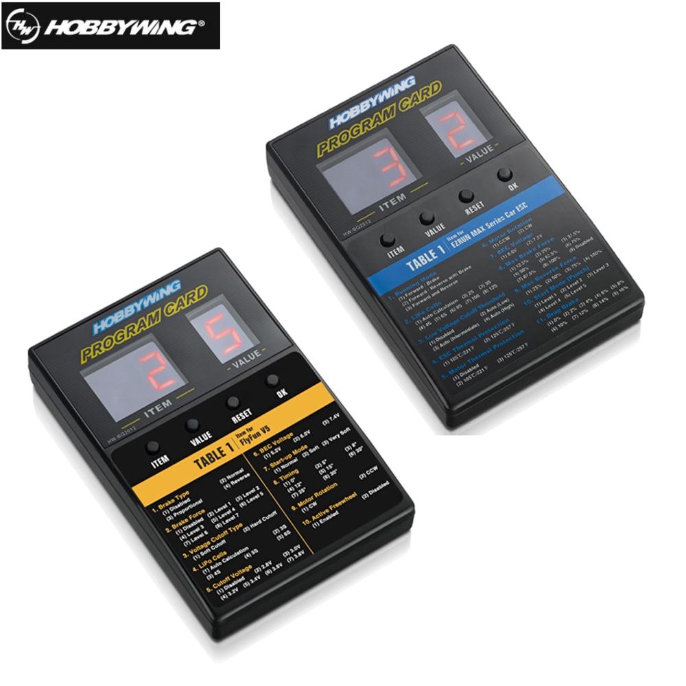 1 Pcs Original Hobbywing RC Car/RC Barco Cartão de Programa de LED Box Programa 2C Cartão Programm Para XERUN Series carro Brushless ESC
