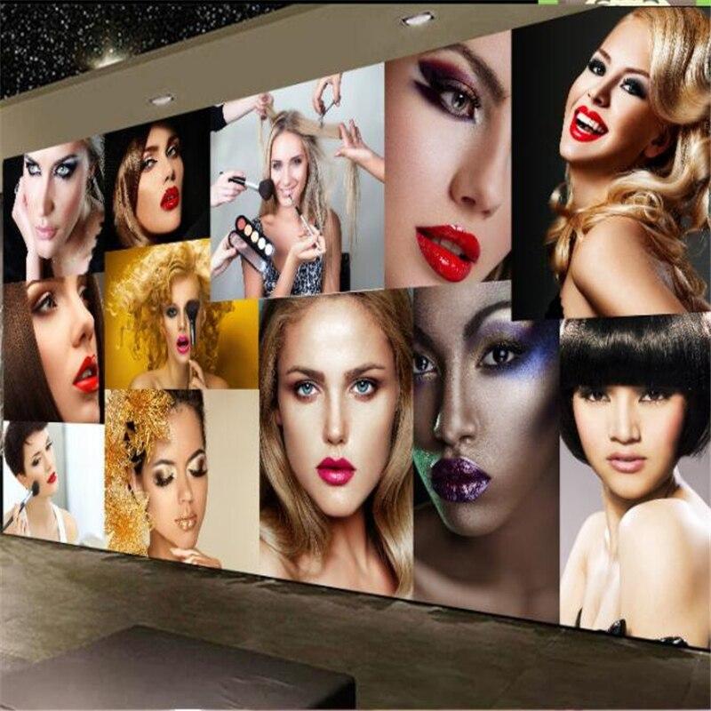 Mural de papel pintado beibehang personalizado moda salón de belleza peluquería barbería herramientas mural decoración de fondo de pared pintura