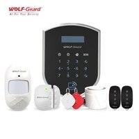 Wolf-Guard     systeme dalarme de securite domestique intelligent  wi-fi 3G 2 4GHz  capteur de porte  detecteur de mouvement PIR  carte RFID  porte-cles  anti-cambriolage  a monter soi-meme