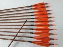 Flèche en carbone en peau de bois ID6.2mm Spine500 avec pointe de flèche de 5