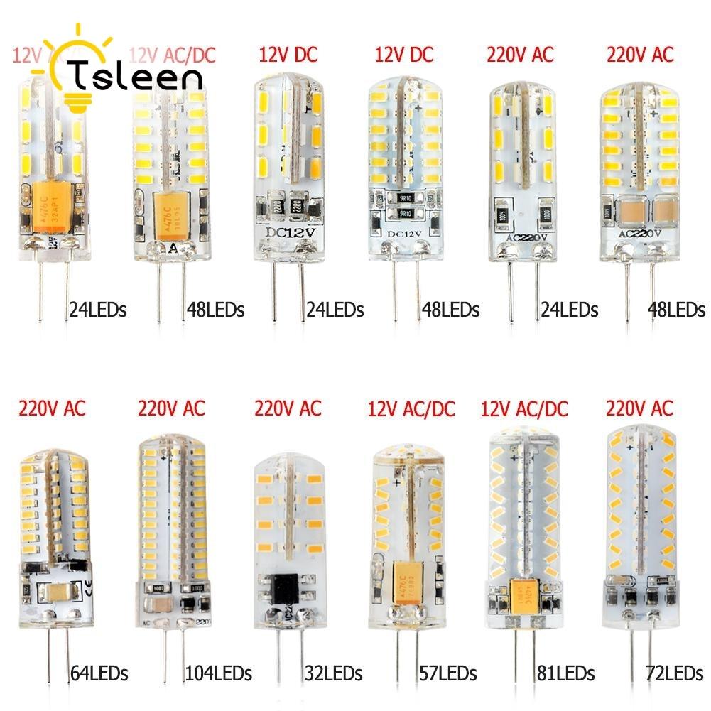 Lámpara LED de calidad barata G4 AC DC 12V 220V 3014SMD Ultra brillante 3,5 W 6W 7W 8W luz blanca cálida fría bombilla led