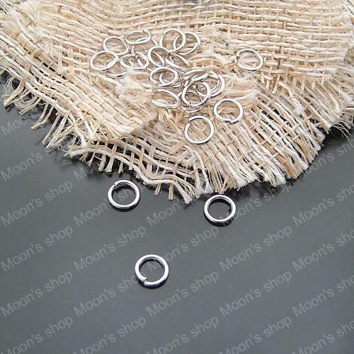 ¡Venta al por mayor! anillos redondos de Metal de imitación de rodio diámetro 3mm 4mm 5mm 6mm 7mm 8mm 10mm 12mm Diy (JM3067)