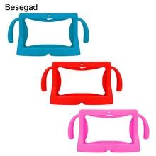 Besegad pour Samsung universel 7 pouces tablette e-books coque de protection souple Silicone couverture peau coque protecteur pour enfants enfants