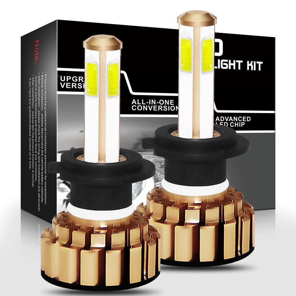 G7-H7 bombilla de faro delantero de coche COB LED 30W 3000LM 9 V-36 V impermeable IP68 6000K 200M rango de luz 360 grados