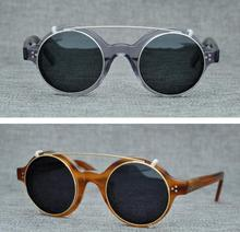 LKK UNISEX Hand-made Japanese retro polarized sunglasses street style small-face sunglasses with double lenses Two Lens glasses