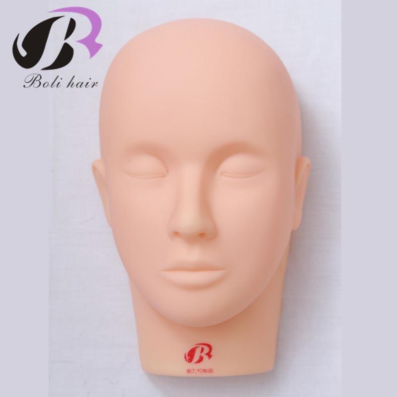 Pro Training Mannequin Flat Head Practice Make Up Eyelash Eye Lashes Extensions