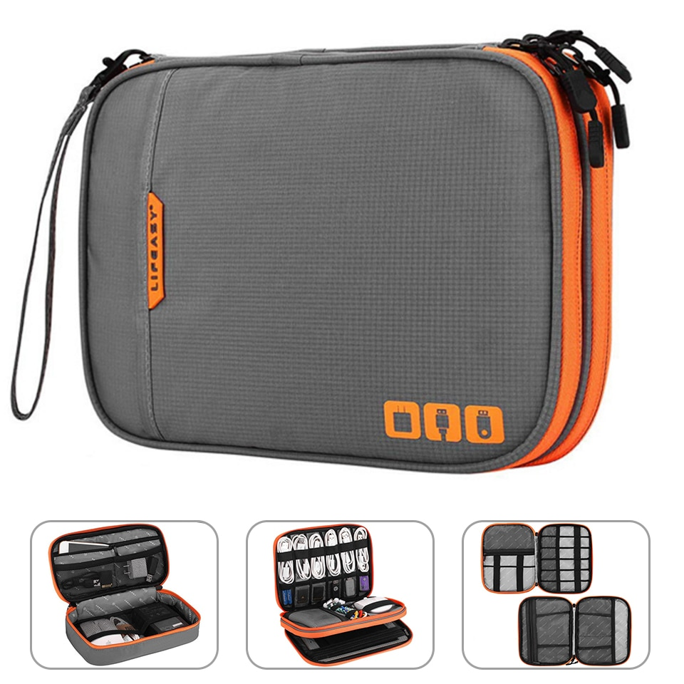 Portable Electronic Accessories Travel case,Cable Organizer Bag Gadget Carry Bag for iPad,Cables,Pow