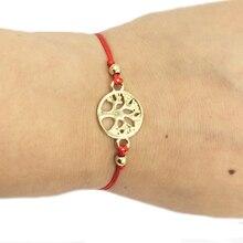 HanJing 2019 new arrival good quality charm love friendship red rope bracelet for woman latest gold tree of life  bracelet femme