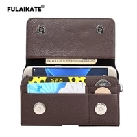 fulaikate 5 2 lanyard litchi wallet for samsung galaxys7 edge lg g5 universal bag waist pocket for huawei p8p9honor8 case