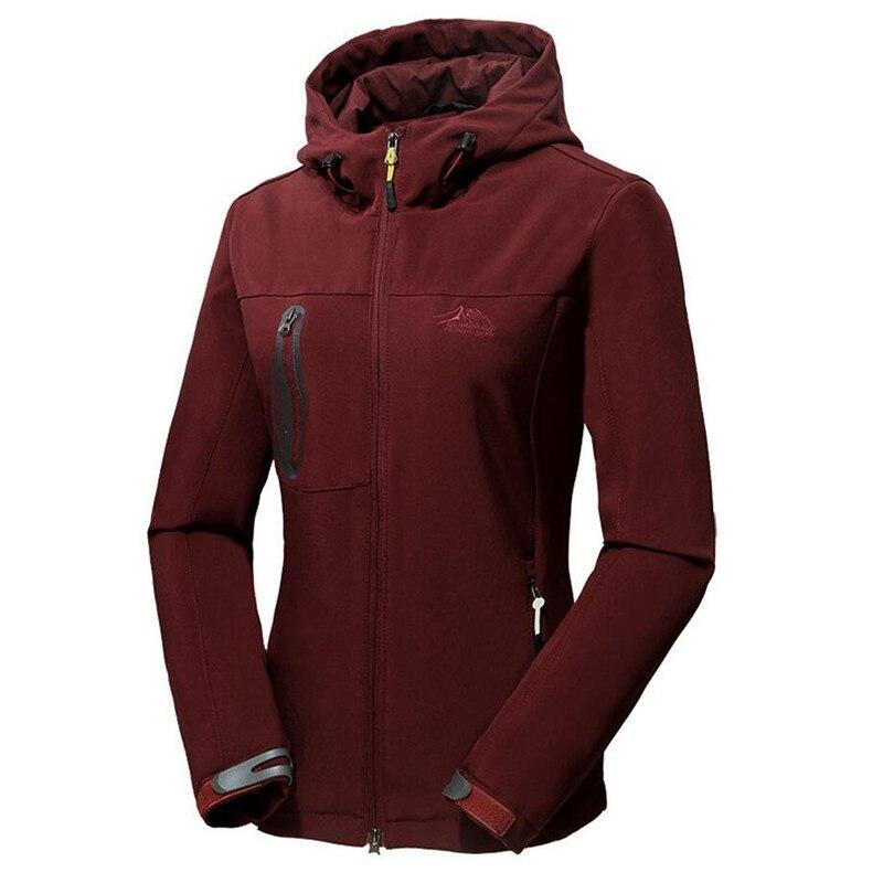 Spring Autumn Womens Casual Waterproof Windproof Soft Shell Jacket Outwear Tourism Windbreaker Jackets Female Hooded Coats 5XL