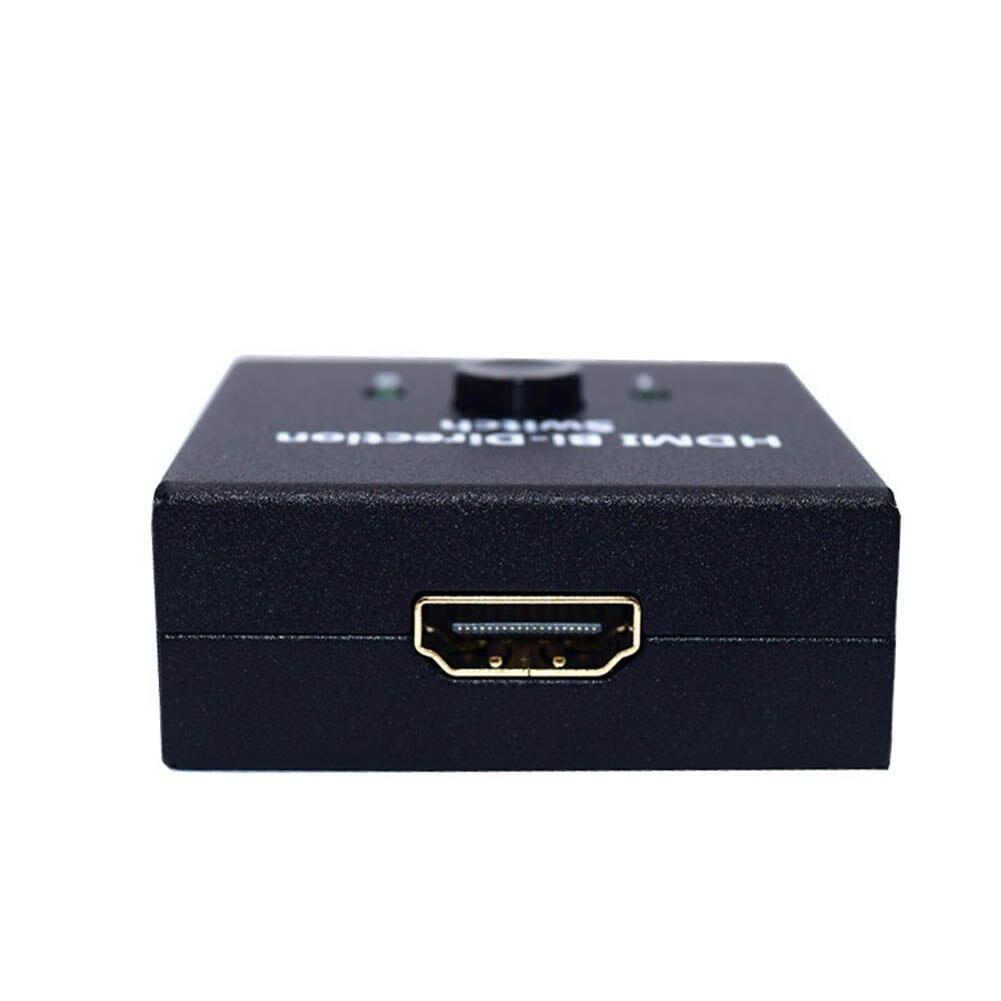 Gran oferta 2 puerto HDMI Bi-dirección conmutador Manual 2x1/1x2 Splitter apoyo Ultra HD 4K 3D 1080P