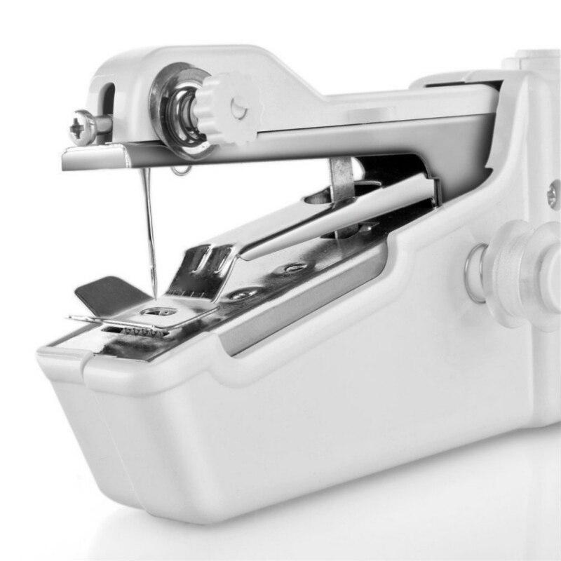 Mini handheld máquina de costura ponto elétrico portátil máquina de costura doméstica sem fio roupas tecidos reparos diy conjunto costura n