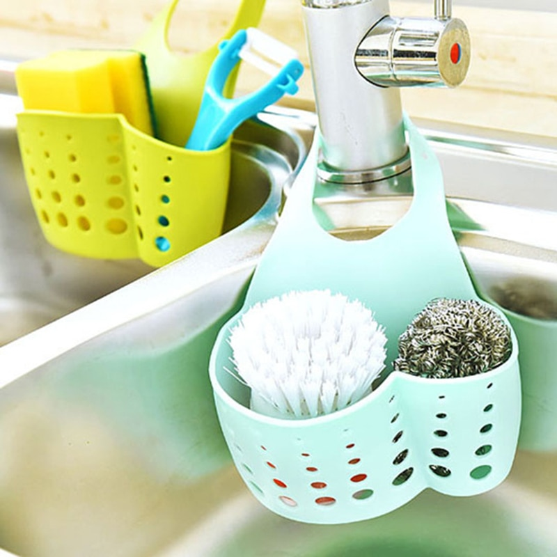 LASPERAL escurridor colgante para baño estante de almacenamiento herramientas de almacenamiento soporte para esponja de cocina estante de almacenamiento organizador de cocina Dropship