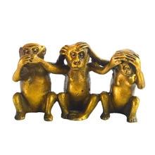 Kalp Hiçbir Kötü, Görmek Hiçbir Kötülük, no Evil konuş 3 Maymunlar + Ücretsiz Mxsabrina Kırmızı Dize Bilezik M5025
