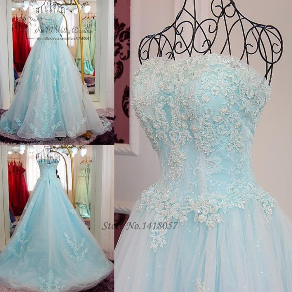Vestidos de 15 anos Princesa baratos azul claro Vestidos de quinceañera 2017 dulces 16 Vestidos Debutante vestido de encaje vestido de desfile de Graduación