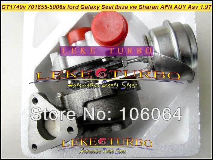 GT1749V 701855 701855-5006S 028145702S 45702S 028145702SX Turbo For Ford Galaxy Alhambra Ibiza VW Sharan AFN AUY ASV 1.9L TDI