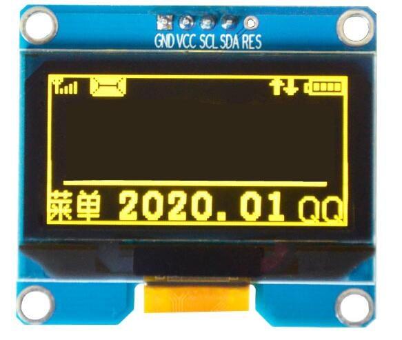 1.54 pouces PM OLED module IIC I2C interface 12864 écran daffichage blanc bleu jaune couleur SSD1309 SPD0301 pilote IC