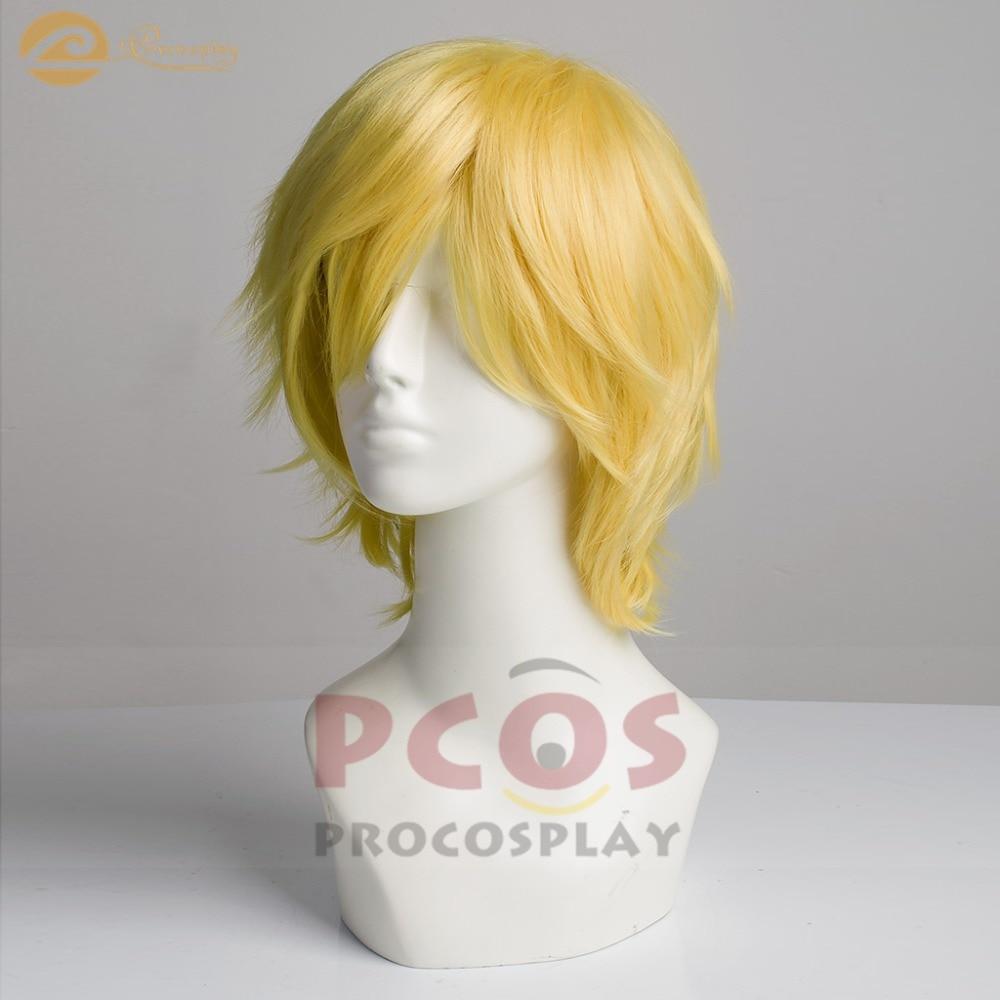 Em Estoque, Navio Pronto ~ RWBY Beacon JNPR mp003290 Jaune Arco Cosplay Amarelo Peruca de cabelo curto
