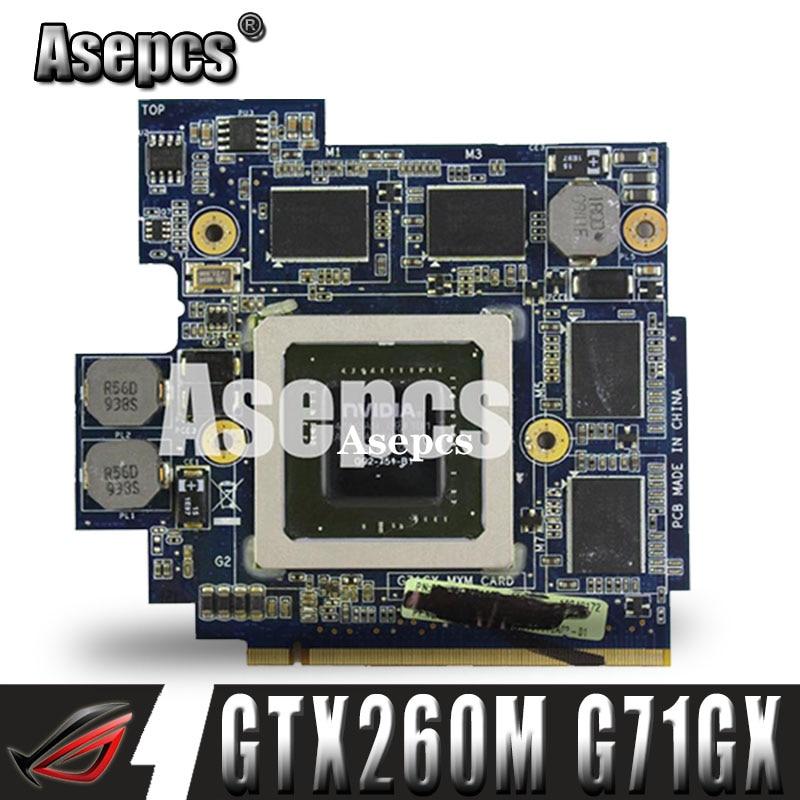 Asepcs 60-NVZVG1000-A02 GTX 260 M GTX260M G92-751-B1 DDR3 1 GB Placa De Video VGA para Asus G71G G71GX G72GX G51VX G61GX