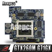 Asepcs 60-NVZVG1000-A02 GTX 260 M GTX260M G92-751-B1 DDR3 1 GO Placa Vidéo VGA par Asus G71G G71GX G72GX G51VX G61GX