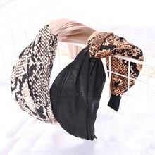 Vintage bohème léopard Satin noué croix bandeau motif noeud bandeau personnalisé cheveux accessoires chapeaux
