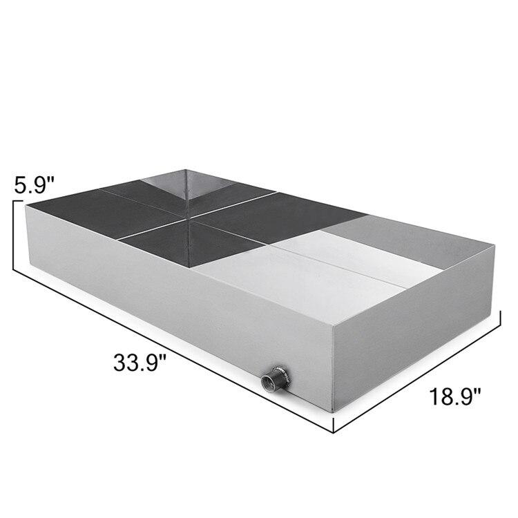 Tig 18 Ga Xarope de Bordo Aço Inoxidável Panela Fervente 18x34x6 Sap GreaPan do evaporador Para A Tomada de Bordo xarope