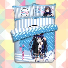 Anime Yahari Ore no Seishun Love Comedy wa Machigatteiru Zoku Quilt Cover Bedding Set With Pillow Cases Duvet Cover Set 151218