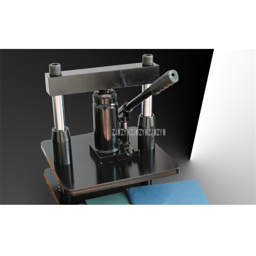 Pressão hidráulica mão operar desktop pequeno manual morrer máquina de corte de couro indentação molde perfuração máquina de corte da imprensa