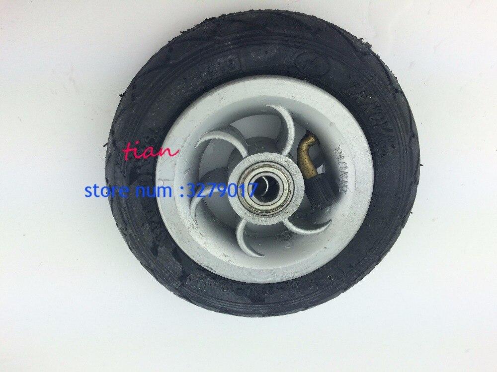 Rueda neumática de 5 pulgadas Gocart Caster 5x1 rueda de neumático con cubo de Metal 5X1 neumático con tubo interno vehículo eléctrico