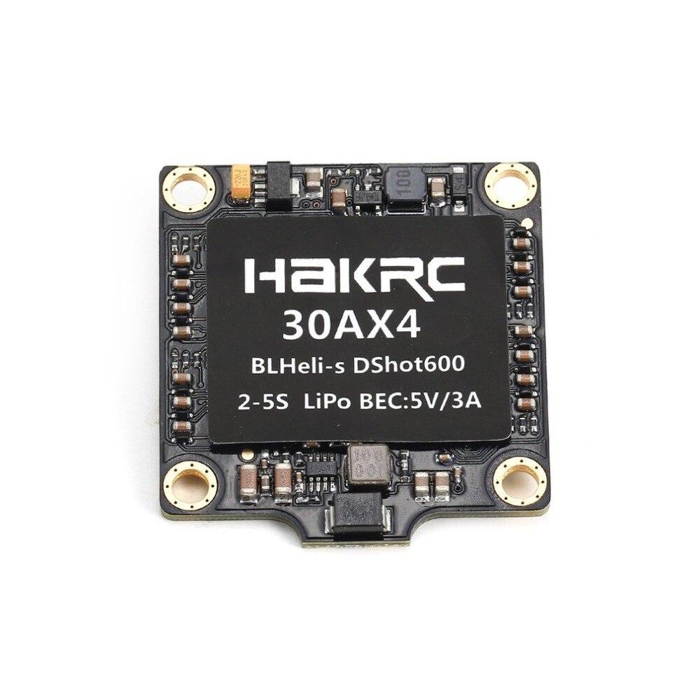 30A, 4 en 1, BLHeli_S/Dshot150/300/600, controlador ESC de velocidad con 5V BEC para Dron de carreras de control remoto, Quadcopter, multicóptero, accesorios