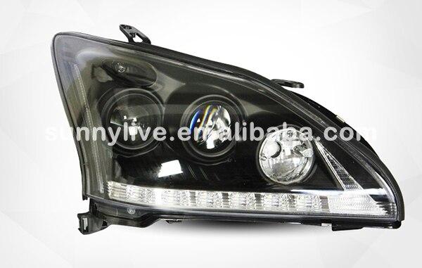 Para herrier kluger lâmpada de cabeça lexus rx330 r350 anjo olhos 2004-2009 ano sn