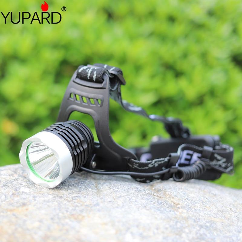 YUPARD XML-L2 led Aluminum alloy Headlamp Head Torch Lamp light Flashlight 3 Mode black super T6 yellow light camp fishing
