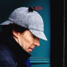 VORON-casquette de Cosplay de bonne qualité   Chapeau détective Sherlock Holmes Deerstalker, tasses grises, casquette bérets pour hommes et femmes, nouvelle collection 2017