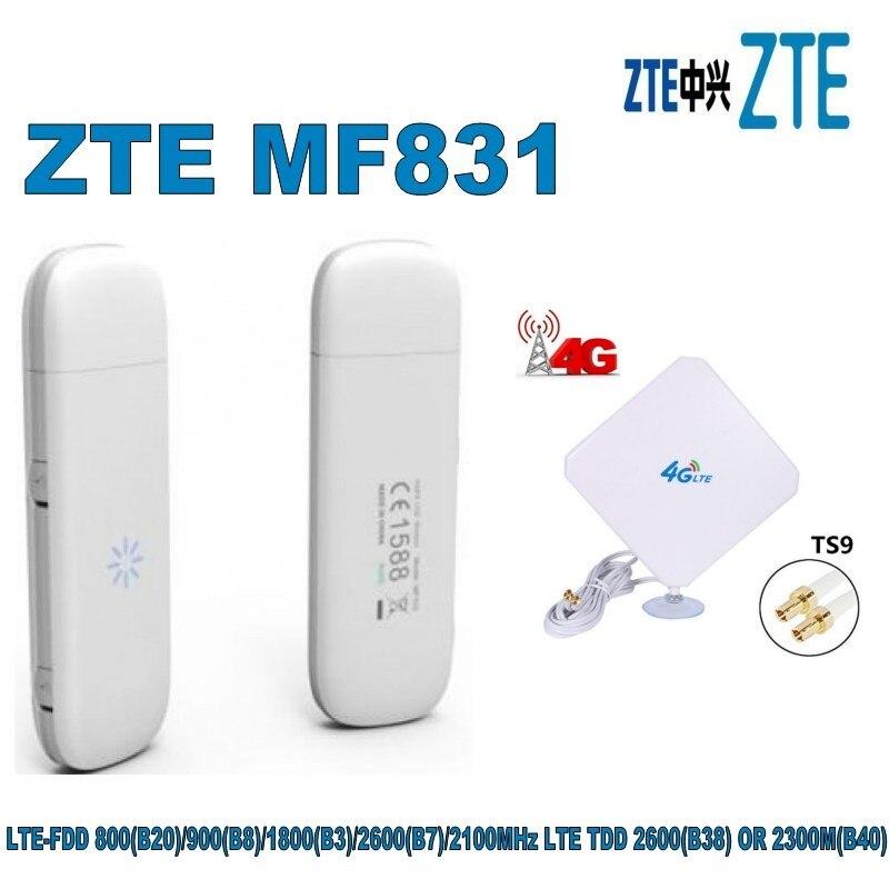 zte mf831 4g dongle 2 porta de antena externa lte usb modem mais 4g antena