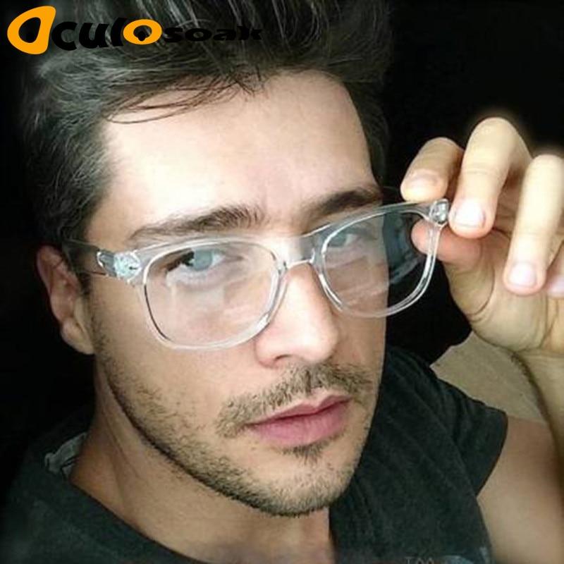 2019 Retro Mannen Transparante Heldere Lenzen Pc Comotuer Vierkante Brillen Frames Voor Vrouwen Lezen Brillen Mannelijke Spektakel