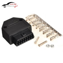 OBD2 OBD II OBD 2 16 broches   Connecteur de broche, outil de Diagnostic féminin, connecteur OBD + coque + Terminal + vis, outil de Diagnostic pour daewoo