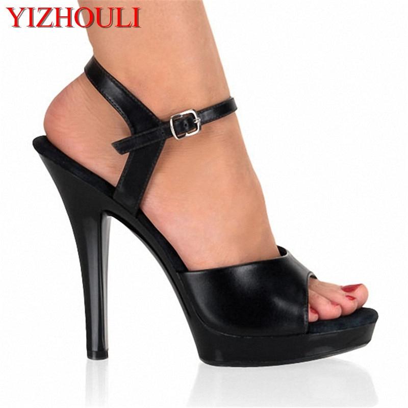 New Lady's Sexy 5 Inch High Heels 13 CM High Heels Sandals Women's Night Club Sandals