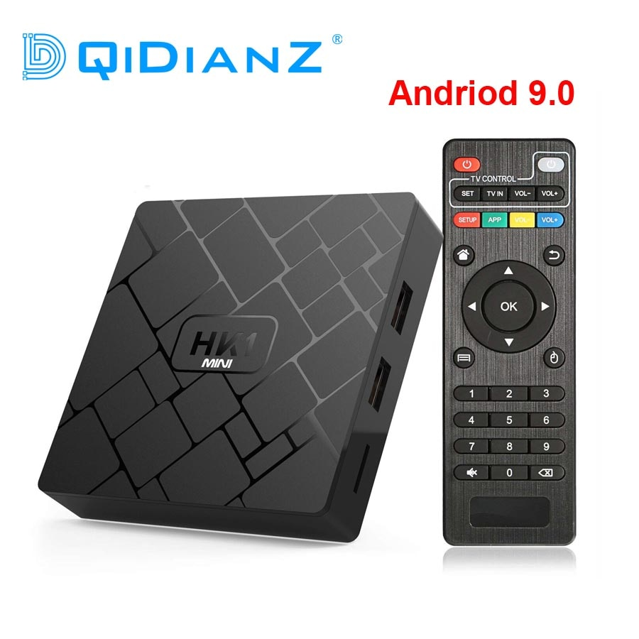 DQiDianZ Android 9,0 Dispositivo de TV inteligente RK3229 2G DDR3 16G EMMC ROM Set Top BOX 4K 3D H.265 Wifi media player receptor de TV HK1MINI